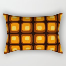 60s Retro Mod Rectangular Pillow