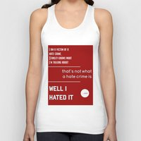 michael scott Tank Tops featuring Michael Scott on Hate Crimes (The Office) by thebuccanear
