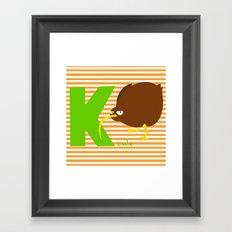 k for kiwi Framed Art Print