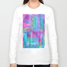 Pink with Blue Dots Long Sleeve T-shirt