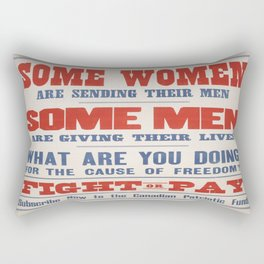 Vintage poster - Canadian Patriotic Fund Rectangular Pillow