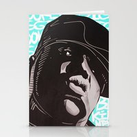 biggie smalls Stationery Cards featuring Biggie Smalls by Art By Ariel Cruz
