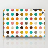 polka dot iPad Cases featuring Autumnal polka dot by cafelab
