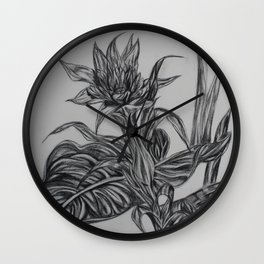 Tropical Flower Wall Clock