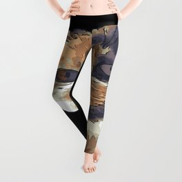 Cute Tricolor Cat With Tongue Out Leggings