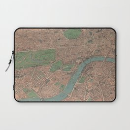 Vintage Pictorial Map of London England (1910) Laptop Sleeve