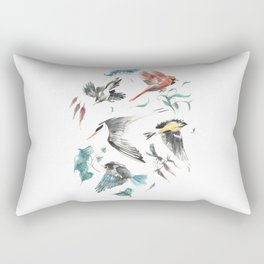 Birdwatching Rectangular Pillow