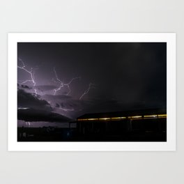 Country Lightning Art Print