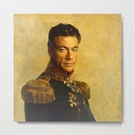 Jean Claude Van Damme - replaceface Metal Print