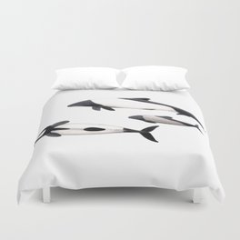 Commerson´s dolphins Duvet Cover