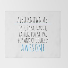 Awesome Dad Throw Blanket