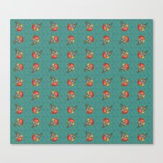Puki Owl Pattern Canvas Print