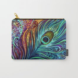 Peacock Feather by Laura Zollar Carry-All Pouch