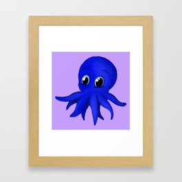 Octobaby Purple Framed Art Print