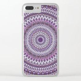 Lavender Petals Clear iPhone Case
