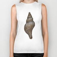 seashell Biker Tanks featuring Seashell by Judith Lee Folde Photography & Art