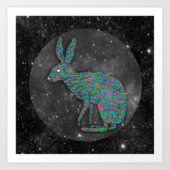 A Hare to the Left Art Print