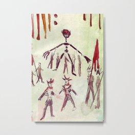 Scene Drawing from Ubu Roi Metal Print
