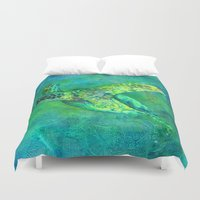 silent Duvet Covers featuring Silent Journey by Christine's heART