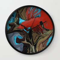 band Wall Clocks featuring Betta's Band by Distortion Art