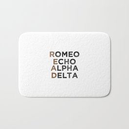 Read (Romeo, Echo, Alpha, Delta) Bath Mat