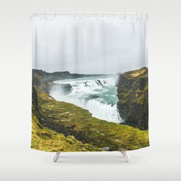 Gigantic Gullfoss Shower Curtain
