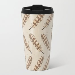 barred owl feather pattern Travel Mug