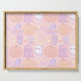 Halloween Pixel Pattern Serving Tray