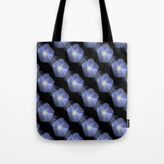 Morning Glory Illusion On Black Tote Bag