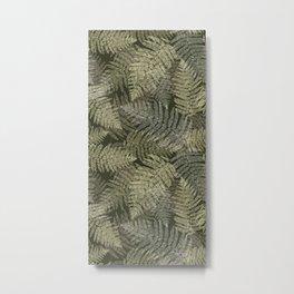 Fern Linear Leaves Metal Print