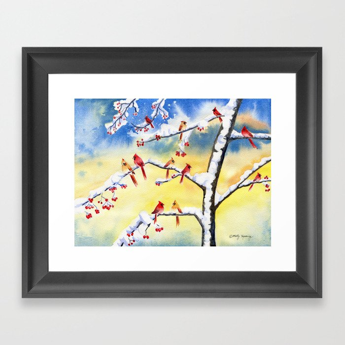 Winter Song 2 Framed Art Print