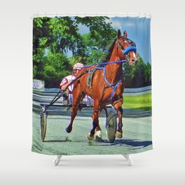 The Backstretch Shower Curtain