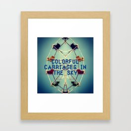 Colorful Carriages  Framed Art Print
