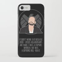 agents of shield iPhone & iPod Cases featuring Agents of S.H.I.E.L.D. - Hunter by MacGuffin Designs
