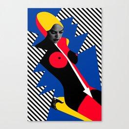 Nude Pop Art Canvas Print