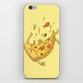 Pizza fall iPhone Skin