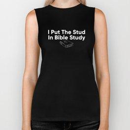 I Put The Stud In Bible Study Biker Tank