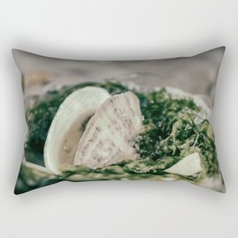 Seaweed and Shells on the Beach Nature / Coastal Photograph Rectangular Pillow