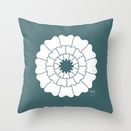 Bloomin' Smile Custom Name Throw Pillow