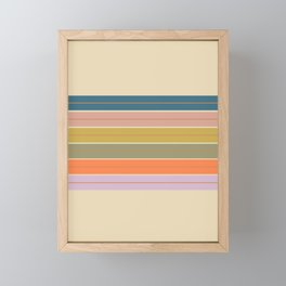 Pastel Stripes Framed Mini Art Print