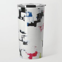"""No. 30 - Print of Original Acrylic Painting on canvas - 16"""" x 20"""" - (White and multi-color) Travel Mug"""