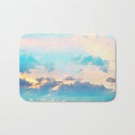 Unicorn Pastel Clouds #4 #decor #art #society6 Bath Mat