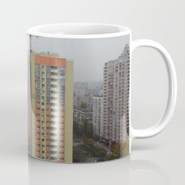 Construction of a multi-storey residential building, new building Coffee Mug