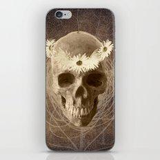 Skull Human Vintage Flowers Digital Collage 2 iPhone Skin