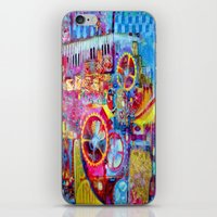 steam punk iPhone & iPod Skins featuring Steam Punk Music Box  by SharlesArt