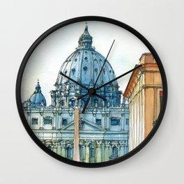 Scorcio di S. Pietro Wall Clock