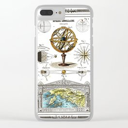 Sphere Armillaire - Astronomical and Cosmographical Chart Clear iPhone Case