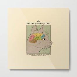 The Feline Phrenology Metal Print