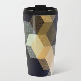 CUBE 1 GOLD & BLACK Travel Mug