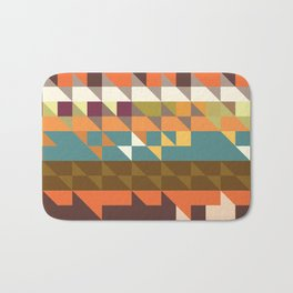 Shapes in retro colors Bath Mat